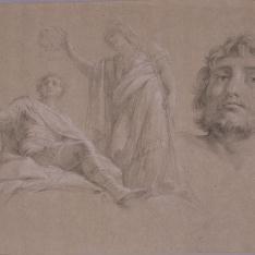 La diosa Minerva corona al emperador Adriano