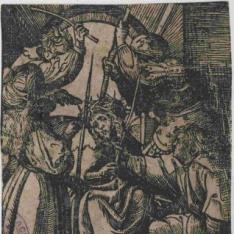 Cristo coronado de espinas y escarnecido