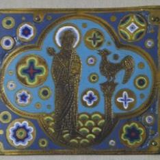 Placa esmaltada con las negaciones de San Pedro