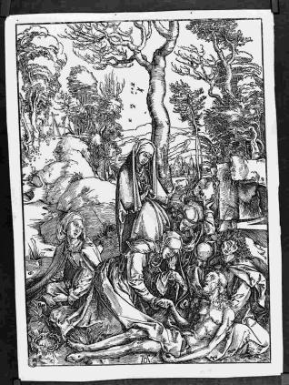 Las Santas mujeres y San Juan con el cuerpo de Cristo