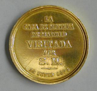 Visita de Alfonso XII a la Casa de la Moneda de Madrid