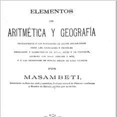 Elementos de aritmética y geografía