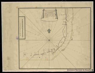 Plano y Descripción de Los cayos de los Martires