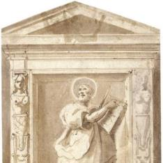 Evangelista en una hornacina