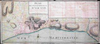 Plan de la Ville, et Château D'Alicante