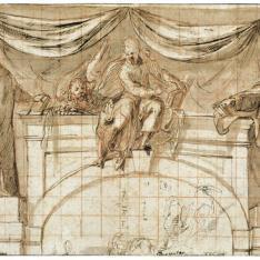 Diseño para la decoración de la pared frontal de una capilla