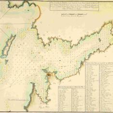 Plano de la Ría de Pontebedra