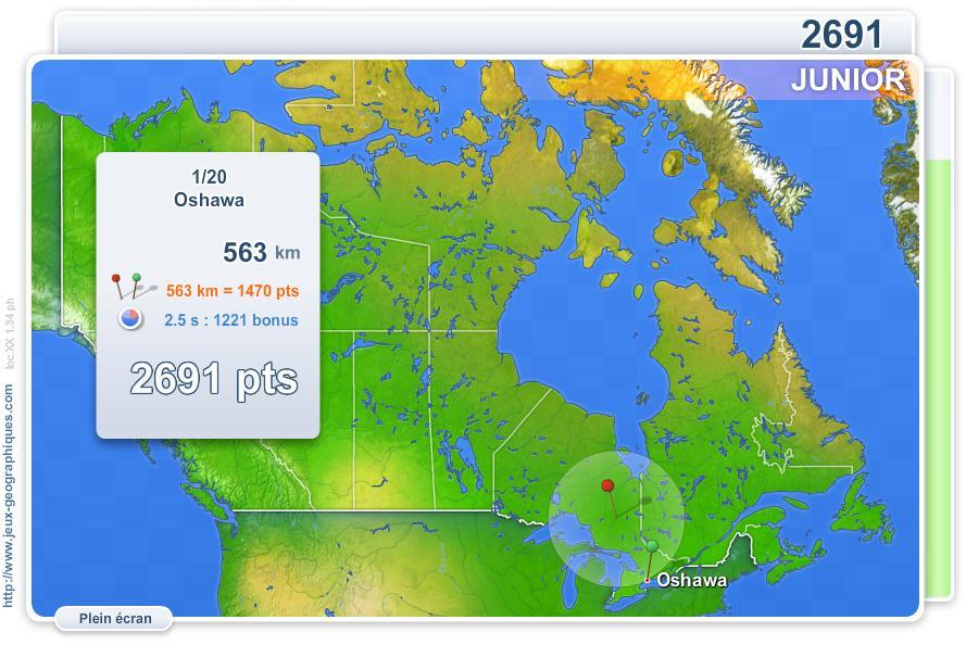 Villes du Canada Junior. Jeux géographiques