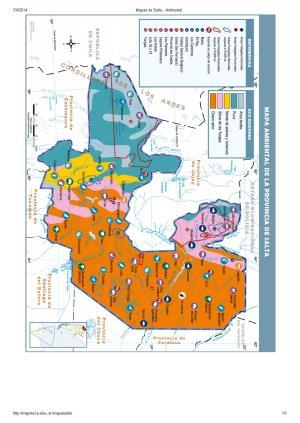 Mapa ambiental de Salta. Mapoteca de Educ.ar