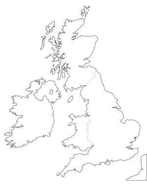 Mapa de países del Reino Unido. Freemap