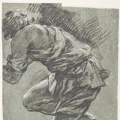 Figura masculina arrodillada