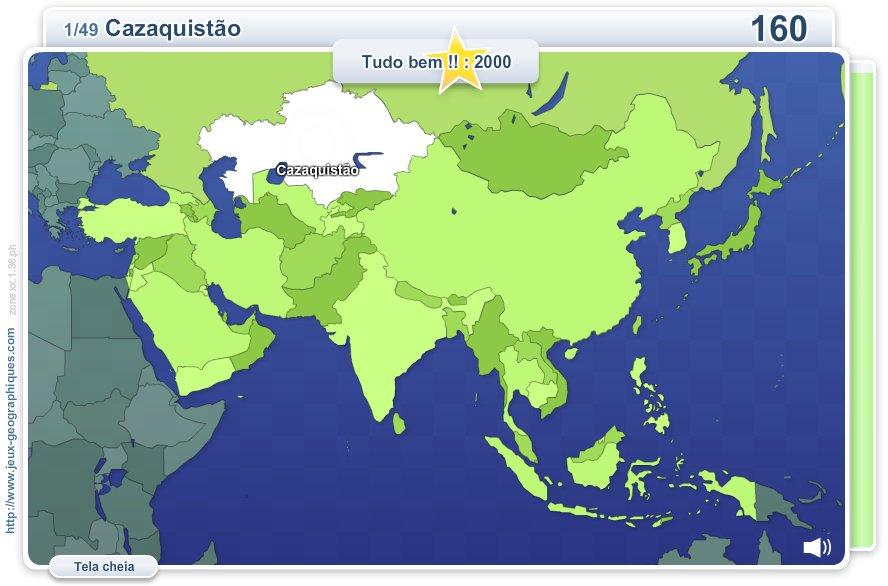 Geo Quizz Ásia.  Jogos geográficos