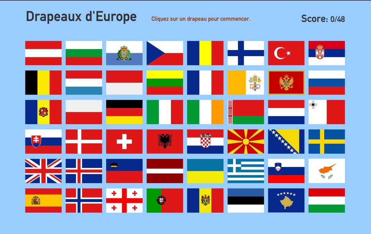 Drapeaux d'Europe. Toporopa