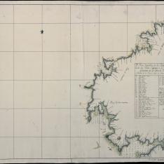 2º Plano Geométrico de los Puertos y Costa de las Yslas Cisargas a la Ría de Muros