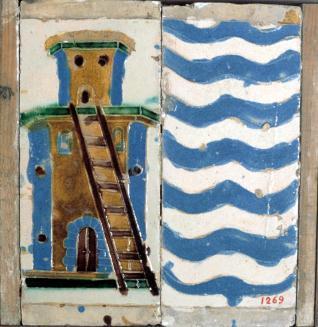 Pareja de azulejos por tabla