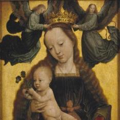 La Virgen con el Niño y ángeles