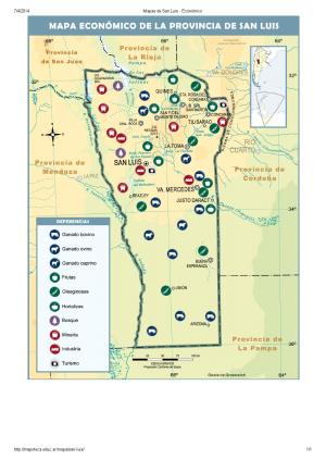 Mapa económico de San Luis. Mapoteca de Educ.ar