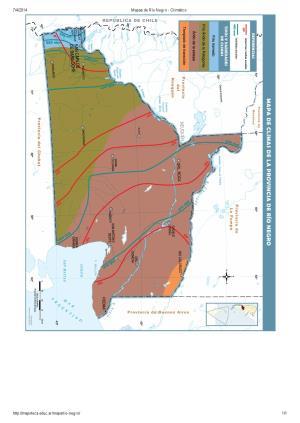 Mapa climático de Río Negro. Mapoteca de Educ.ar