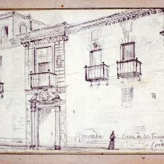 Fachada del palacio de los Fernández de Córdoba, Granada