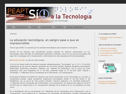 PEAPT: Plataforma Estatal de Asociaciones del Profesorado de Tecnología