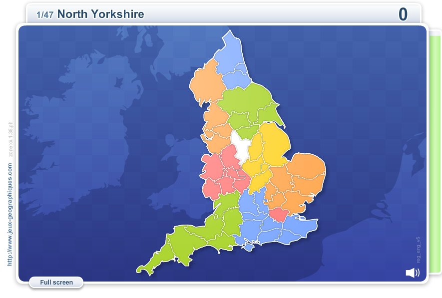 Counties of England . Geography map games