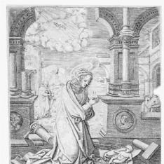 La Virgen adorando al Niño Jesús