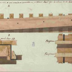 Sección de una armadura del Palais Royal de París