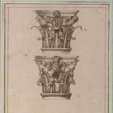 Capiteles compuestos fantásticos y basa ática vitruviana