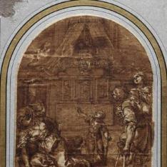 Milagro ante el sepulcro de San Pedro Mártir