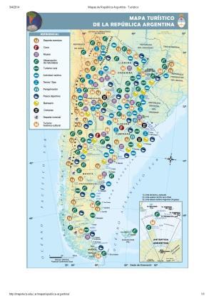 Mapa turístico de Argentina. Mapoteca de Educ.ar
