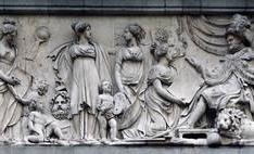 Fernando VII recibiendo los tributos de Minerva y las Bellas Artes