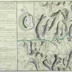 Plano que manifiesta la situación que tomaron las Tropas y Miqueletes el 25 de Julio de 1795