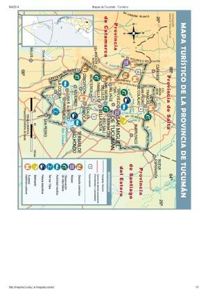 Mapa turístico de Tucumán. Mapoteca de Educ.ar