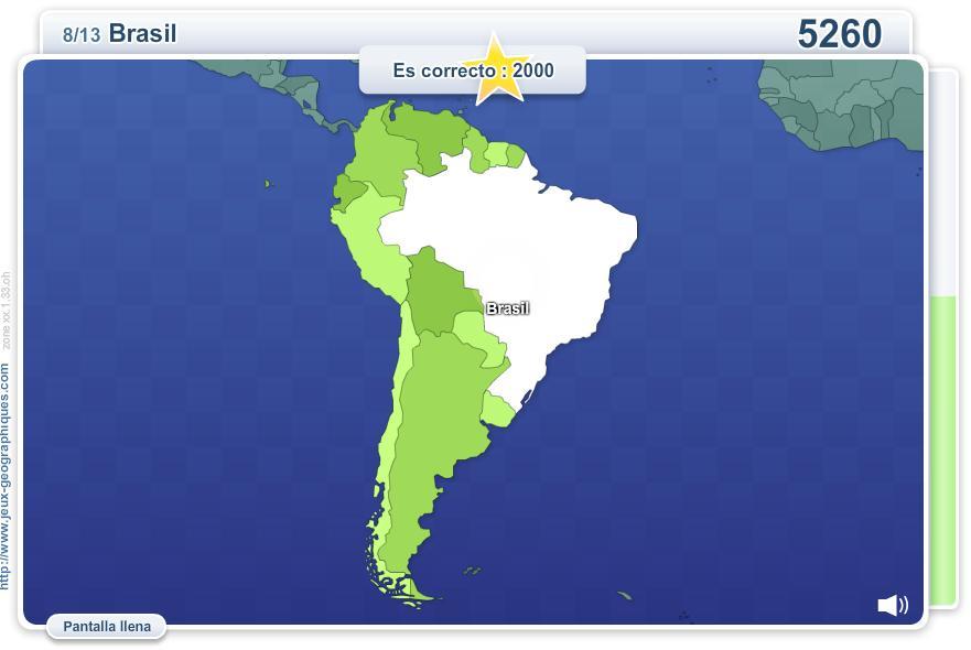 Mapa interactivo de América del Sur Geo Quizz América del Sur ...