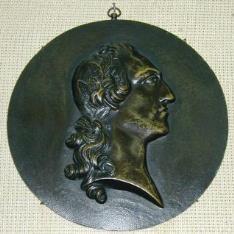 Medallón con retrato masculino