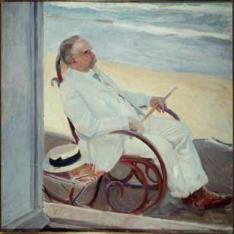 Antonio García en la playa