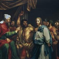 Jesús en casa de Anás