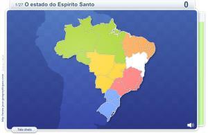Estados do Brasil.  Jogos geográficos
