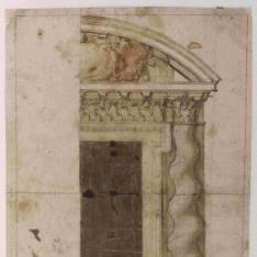 Diseño para portal con columna salomónica