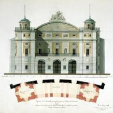 Proyecto para la fachada del Teatro Real de Madrid