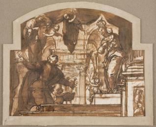 Aparición de la Virgen a un caballero