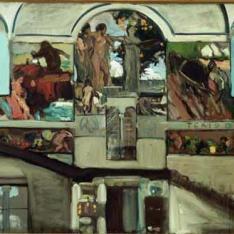 Boceto para la decoración de la escalera de la Casa Sorolla
