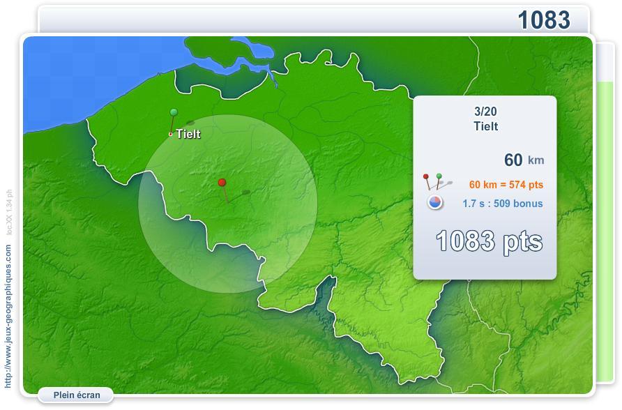 Villes de Belgique. Jeux géographiques