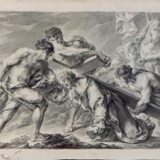 Primera caída de Cristo, camino del Calvario