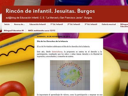 Rincón de infantil. Jesuitas. Burgos.