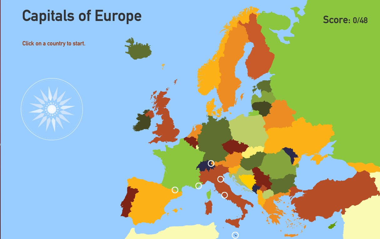 Interactive map of Europe Capitals of Europe. Toporopa ...