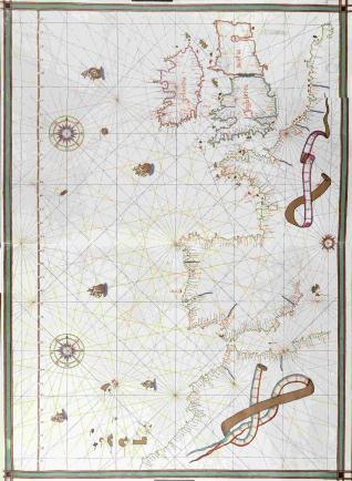 Carta portulana del Océano Atlántico Nororiental