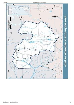 Mapa mudo de capitales de Jujuy. Mapoteca de Educ.ar
