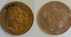 Medalla conmemorativa del matrimonio de Alfonso XII con María Cristina de Austria