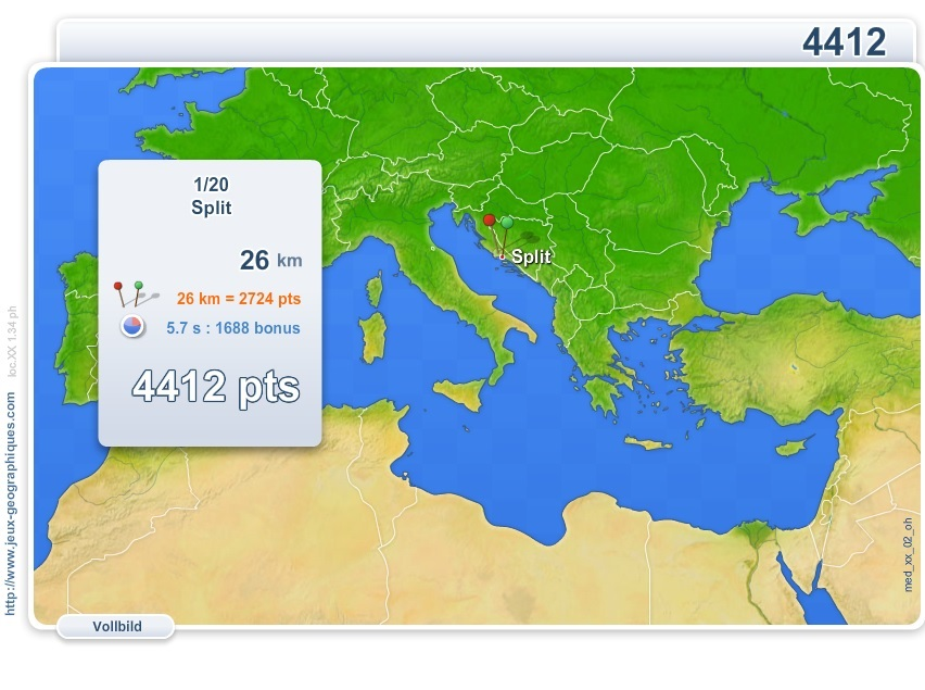 Städte des Mittelmeeres. Geographie Spiele